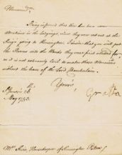 Charles FitzRoy Letter Signed - Duke of Grafton